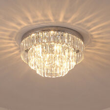 HOMCOM Crystal Light Ceiling Lamp Chandelier Hallway Flush Living Room