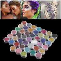 45Colors 1Set Loose Glitter Powder Face Body Nail Art Eyeshadow Makeup New