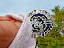 "1 oz Silver Round  "" Get Your Kicks On Route 66""  1- Troy Ounce .999 Fine Silver"