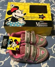 Disney Minnie Mouse Girls Size 11 Youth Pink Athletic Shoes w Lights New!