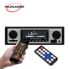 Car Stereo Radio Voice Broadcast Bluetooth SD AUX MP3 Player 12V FM In Dash Gift