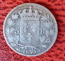 France - Charles X - Jolie monnaie de 5 Francs 1830 B