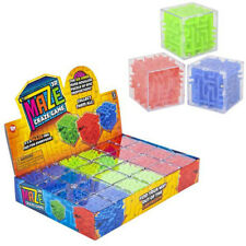 """24 PC 1.5"""" Puzzle Cube Game Maze Brain Teasers Mind Toys Prizes Party Favors"""