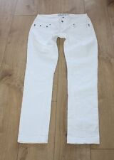 White Denim EKSEPT Zip Low Rise Stretch Slim Summer Casual Jeans Size 32 L 32