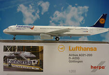 Herpa Wings 1:200 Airbus A321-200 Lufthansa Fanhansa D-Aidg Göttingen 556750