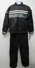 Nwt Vtg Avirex Racing Boys Black Nylon Jacket & Pants Set sz 16-16/18