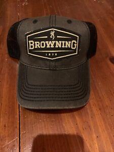 BROWNING ATLUS MESH Trucker Hat Baseball Cap Grey New