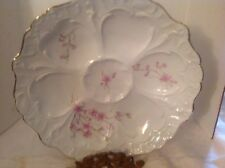 Vintage collectible oyster plate floral design Weimar Germany