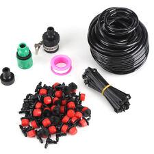 Kit 30 PEZZI per Flessibile Micro Drip Sistema Irrigazione a Goccia Giardino 25M