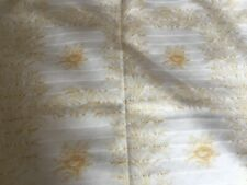 Dorma curtains, white and gold, 66 x 72 inches