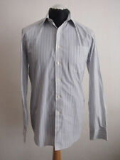 Marks and Spencer Men's Striped Cotton Blend Single Cuff Formal Shirts