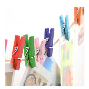 Wooden Clothespins Wedding Party Decor Mini Colored Craft Clothes Pins SG