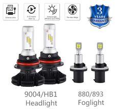 For Pontiac Montana 2000-2005 4x Combo 9004 Headlight & 880 Fog Light LED Bulbs