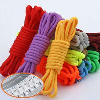 100/120cm Pure Color Round Rope Shoelaces For Athletic Casual Shoes 12 Colours