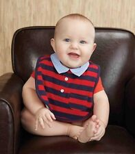Mud Pie Little Buddy Cotton Pique Rugby Style Polo Bib