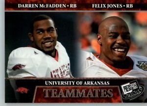 2008 Press Pass Football Teammates #100 Darren McFadden & Felix Jones - Arkansas