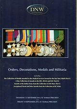 DNW Auction Catalogue13/14TH Sept 2012 Orders Decorations Medals and Militaria