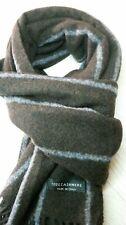 sciarpa scaf 100% cashmere cachemire marrone grigio men woman made in italy