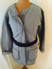 Uber Cool designer label Denham Quilted Jacket Coat Small 10 12 Rrp £170