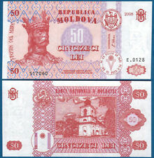 MOLDAWIEN / MOLDOVA 50 Lei 2008 UNC  P.14 e