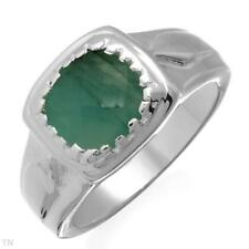 2.20 ctw-Emerald-Soliture Stone-SSilver Ring- 6 1/2/Value $249