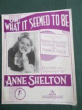 ANN SHELTON-SPARTITI MUSICALI-Oh che sembrava