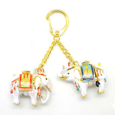 * Chinese New Year  Feng Shui *  Wealth Bringing Pair of Elephants Keychain