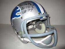 RK Football Helmet Detroit Lions Charlie Sanders Signed