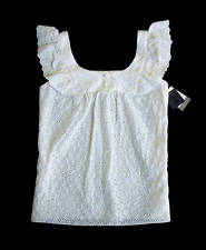 NWD Anna Sui for Anthropologie Eyelet Tank Size L