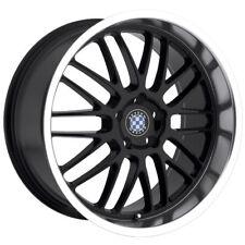 "18"" Staggered Black Beyern Mesh Wheels Rims  5x120 BMW 5 Series E39 E60"