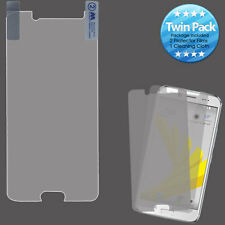For Sprint HTC BOLT Two Pack Clear LCD Screen Protector Guard Cleaning