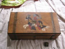 Antique Wood Portable Desk in Box