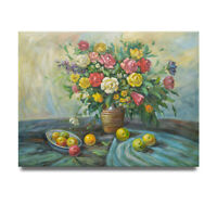 NY Art- Surreal Floral Still Life 36x48 Original Oil Painting on Canvas - Sale!