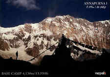 HIMALAYA in NEPAL Postkarte Himalaja Annapurna Bergsteiger Base Camp color AK
