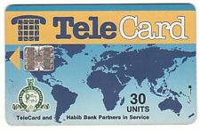 Pakistan - Chipcard - Telecard Worldmap 30 Units SN C4A147142 5000 Ex. - Usagée