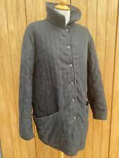New listing Ladies Black Genuine HERMES Quilted PADDOCK Coat JACKET EU 44 UK 16/18