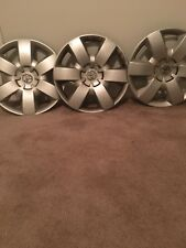 """1991 Toyota Camry 3 Pc Wheel Car Parts 14"""" HubCaps OEM Silver"""