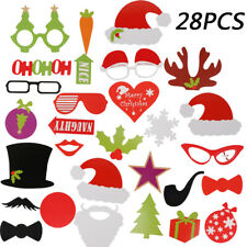 Christmas Photo Booth Props Xmas Party Beard Selfie Arrow Instagram Santa Claus