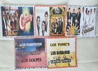 5 DISCOS DE GRUPOS ROMANTICOS DEL AYER EN ESPAÑOL. FORMATO MP3. 335 CANCIONES
