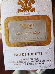 CREED Bois de Cedrat eau de toilette 75ml Brand New In Box Discontinued