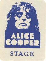 ALICE COOPER 1973 BILLION DOLLAR BABIES CONCERT TOUR BACKSTAGE PASS / NMT 2 MINT