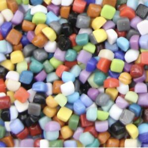 Mini Glass Mosaic Tiles Crafting Pieces Art Hobbies Material Assorted Colors