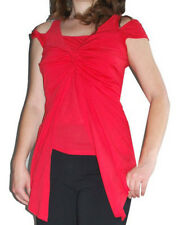 NEXT tencel twist and flare red split sleeve party blouse SIZE UK 10 tall  NEW