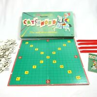 Vintage 1950s Catchword Crossword Board Game Whitman Publishing Co. Made in USA
