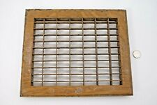 ANTIQUE HEAT or COLD AIR RETURN GRATE / GRILLE STEEL WOOD GRAIN PAINTED VG