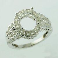 Semi Mount Oval Shape 8x10 MM Ring 925 Sterling Silver Wedding Gift Jewelry