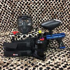 NEW Kingman Spyder Victor LEGENDARY Paintball Gun Package Kit - Gloss Blue