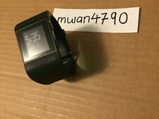 Fitbit Surge Large Black GPS HR Heart Rate Sleep Activity Fitness Tracker Watch