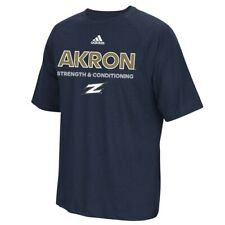 "Akron Zips NCAA Adidas Sideline ""Strength & Conditioning"" Navy Blue T-Shirt"