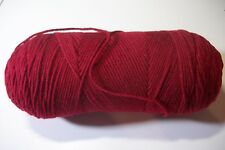 Red Heart Super Saver yarn acrylic worsted 4 ply 8 oz skn burgundy no label